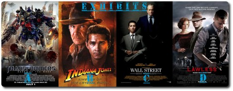 Transformers, Wall Street, Lawless & Indian Jones in the Movie Jail Relay Race